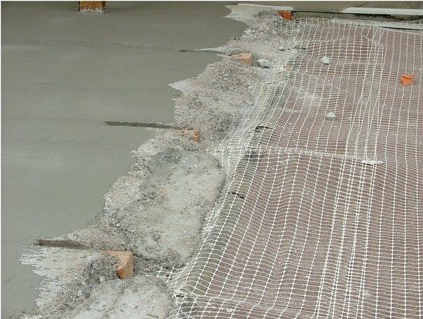 бетон армированный сеткой